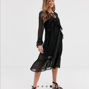 Sacred Hawk sheer midi smock dress